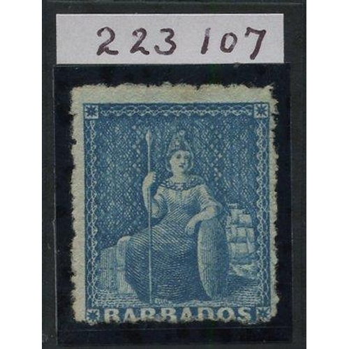 466 - 1870 Wmk Large Star, rough Perf 14 to 16 1d blue, fresh unused without gum. Rare. RPS Cert. 2016, SG...