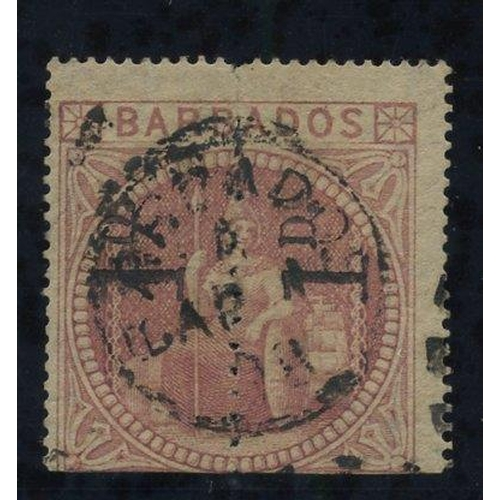 473 - 1878 1d Provisional - an unsevered pair reading upwards, cancelled by c.d.s part of duplex, good col...