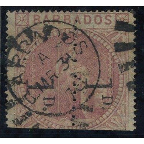 474 - 1878 1d Provisional - an unsevered pair reading downwards, clearly cancelled by duplex, good colour,...