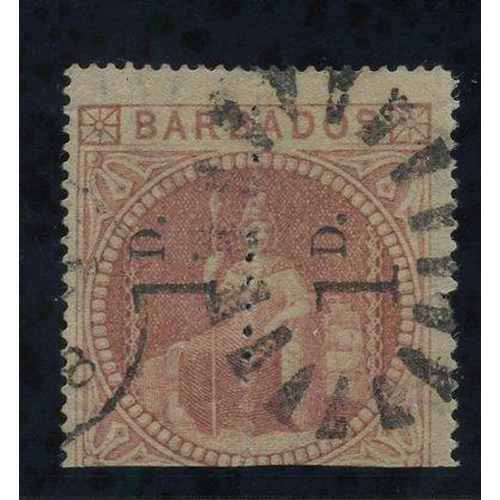 475 - 1878 1d Provisional - an unsevered pair reading upwards, cancelled by duplex, good colour, faint thi...