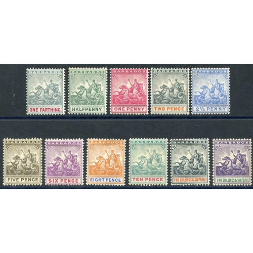 480 - 1892-1903 CCA set, fine M, SG.105/115. (11) Cat. £250...