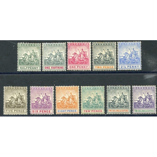 481 - 1892-1903 CCA set, fine M, SG.105/115. (11) Cat. £250....