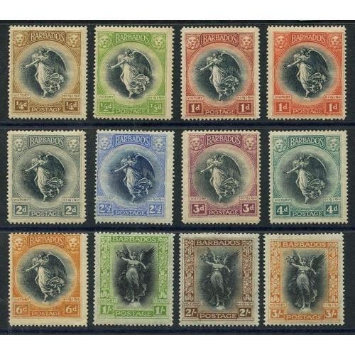 486 - 1920 Victory set, fine M, SG.201/212. (12) Cat. £150...