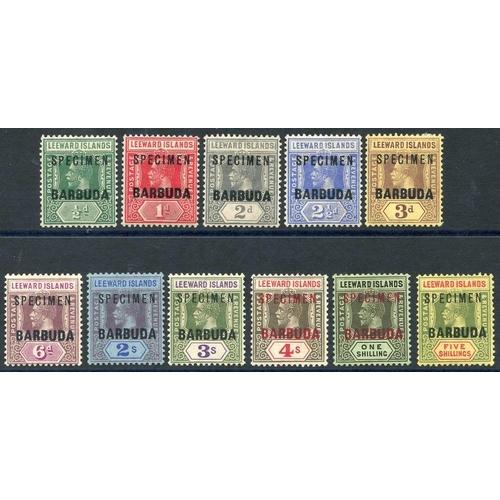 488 - 1922 MSCA & MCCA set, optd SPECIMEN, fine, SG.1s/11s. Scarce. (11) Cat. £225...