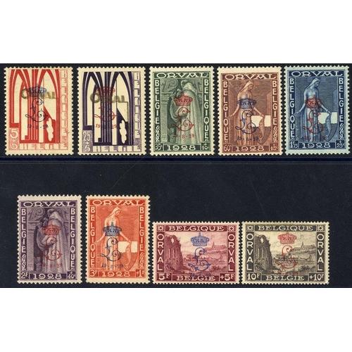 502 - 1929 Orval Abbey set fine M, SG.543/551. (9) Cat. £800...