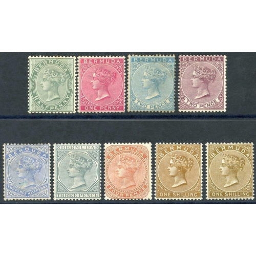 505 - 1883-1904 CCA set + extra 1s, fine M (2d blue is unused), SG.21/29b (9) Cat. £184...
