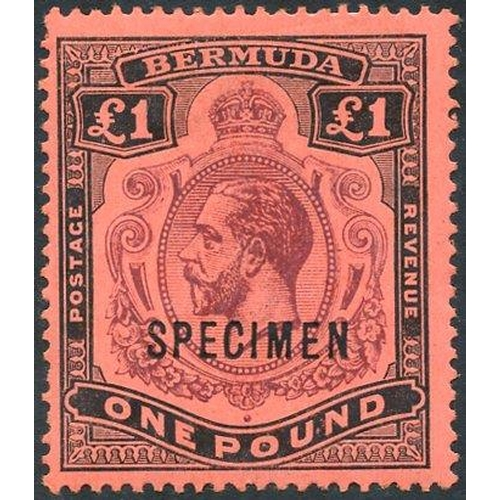 509 - 1918-22 MCCA £1 purple & black/red optd SPECIMEN, fresh M, SG.55s (1)...
