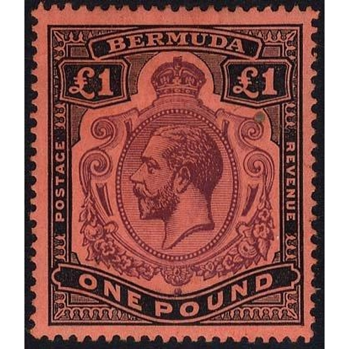 510 - 1918-22 MCCA £1 purple & black/red, variety 'nick in top right scroll' fine M, tiny circular mark be...