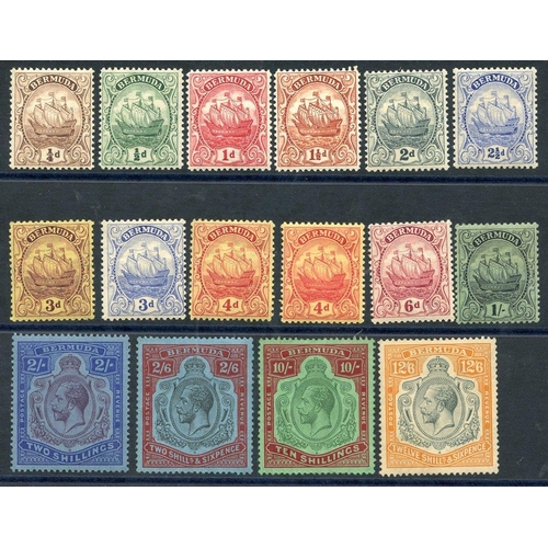 512 - 1922-34 MSCA set (excl. 2½d sage) M, SG.77/87, 1924-32 MSCA set 2s - 12/6d M (12/6d is re-gummed), S...
