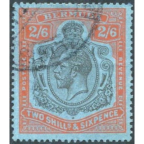 513 - 1924-32 2/6d grey black & pale orange vermilion/grey blue, VFU (central horizontal crease), SG.89l. ...