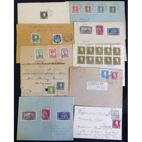 522 - Military mail - fine group of stamped covers with Emperors Franz Josef or Karl military issues with ...