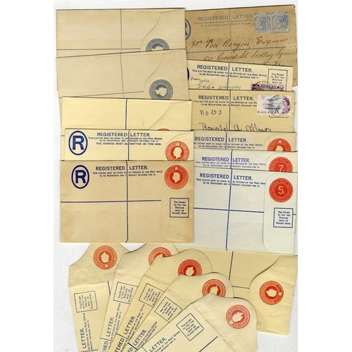 533 - 1890-1972 range of registered stationery envelopes incl. several optd SPECIMEN postally used (11) - ...