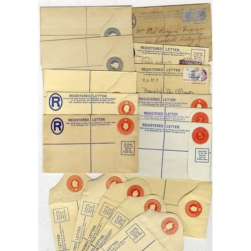 533 - 1890-1972 range of registered stationery envelopes incl. several optd SPECIMEN postally used (11) - ...