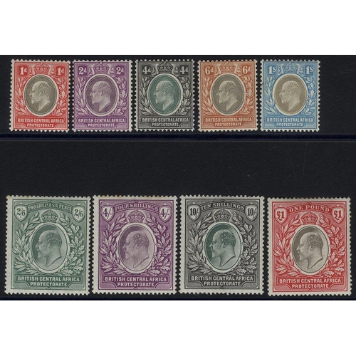 536 - 1903-04 CCA & CCC set, fine M, SG.59/67 (9) Cat. £650...