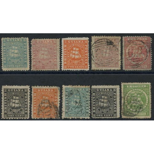 537 - 1862-65 Perf 12 4c pale blue & 8c pink, both unused with part o.g, 1863-75 2c with part o.g (some pe...