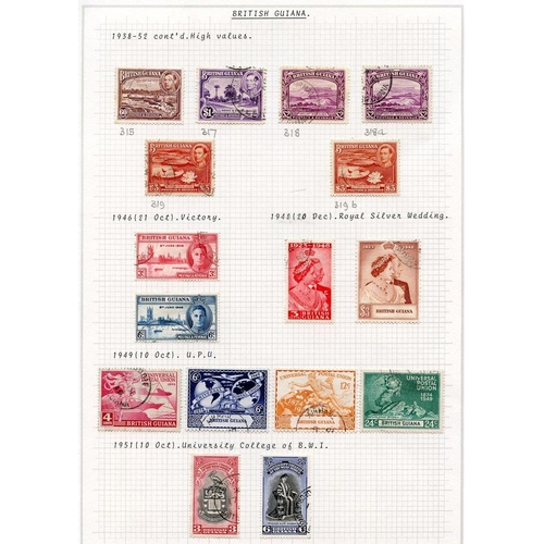541 - 1937-51 KGVI VFU collection incl. 1938 set + extras, 1948 Wedding, 1940 Dues. BRITISH HONDURAS 1937-...