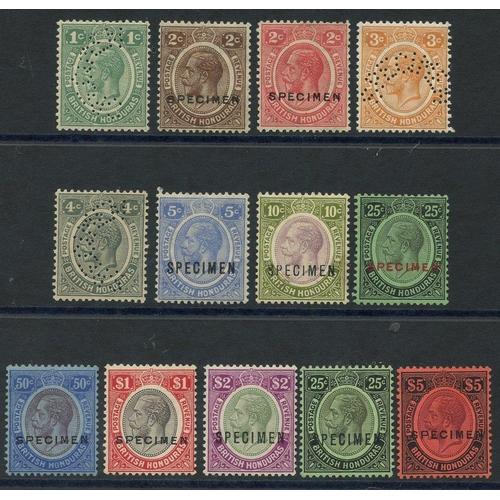 547 - 1922-33 MCCA & MSCA set optd or perf SPECIMEN, fine M, SG.124s/137s. (13) Cat. £375...