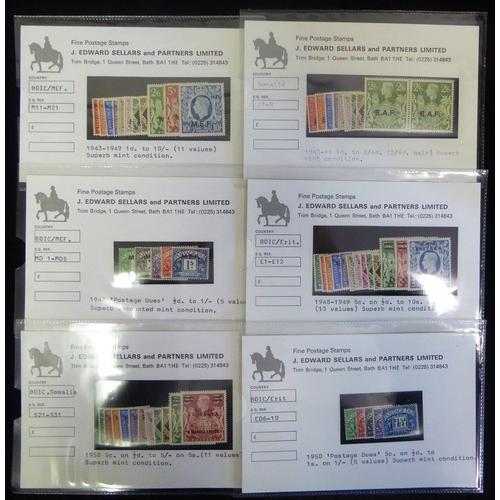 555 - M.E.F 1943-47 set & 1942 Postage Due set, fine M, SG.M11/M21, MD1/MD5. ERITREA 1948-49 set & 1950 Po...