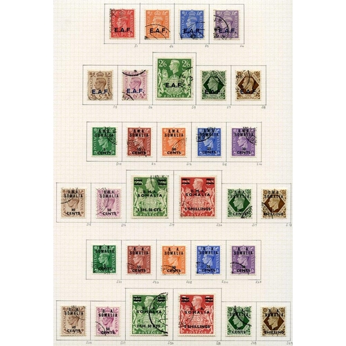 556 - SOMALIA 1943-50 complete basic issues, U - all with good cancels. Cat. £305...
