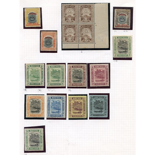 563 - Collection on leaves M with 1895 ½c corner block of four, 1906 2c, 4c & 8c, a range of Canoe types, ...