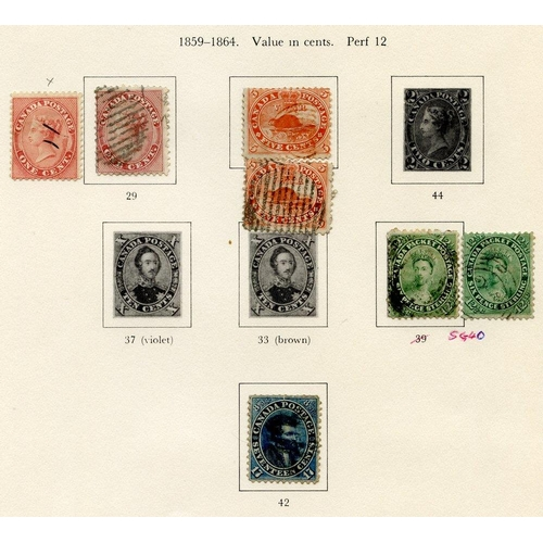 577 - 1859-1970's M & U collection in mixed condition housed in a printed album. 1859 1c, 5c (2) & 12½c (2...