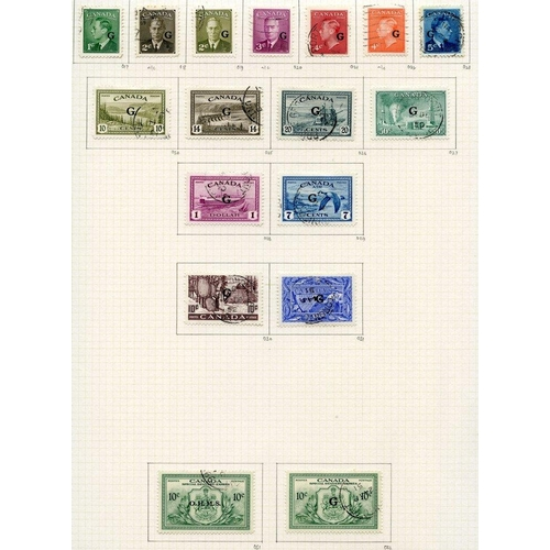 590 - 1937-51 complete basic issues U on philatelic leaves incl. coil stamps, special deliveries & Officia...