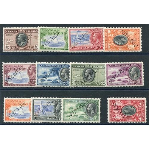 596 - 1935 Pictorial Defin set, Perf SPECIMEN (a few blunt perfs), SG.96s/107s. (12) Cat. £350...