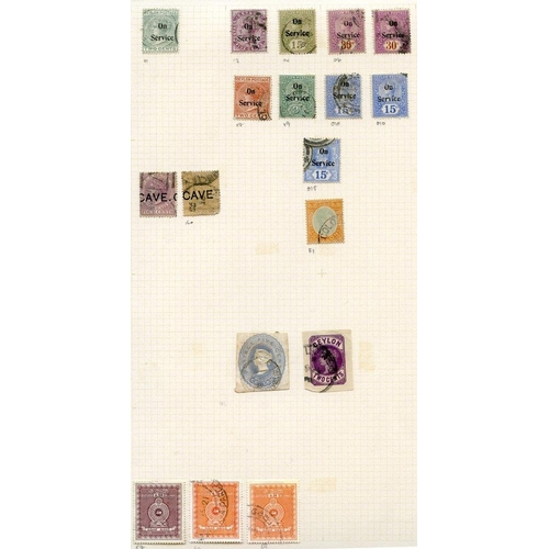 598 - Extensive lot on leaves from Imperf Chalon 1d, 2d, 6d (2), 1s, Perf 10d, 1s, range of later QV, KEVI...