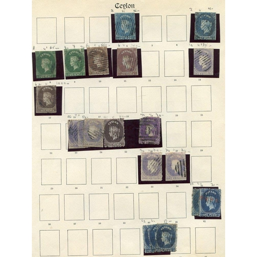600 - 1857-1935 useful but untidy collection on printed leaves incl. Imperf Chalons 1d (2), 2d (2), 6d (2)...