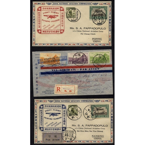 622 - 1931 & 1937 first flight covers (3), first two - China National Aviation Corp official covers Peipin...