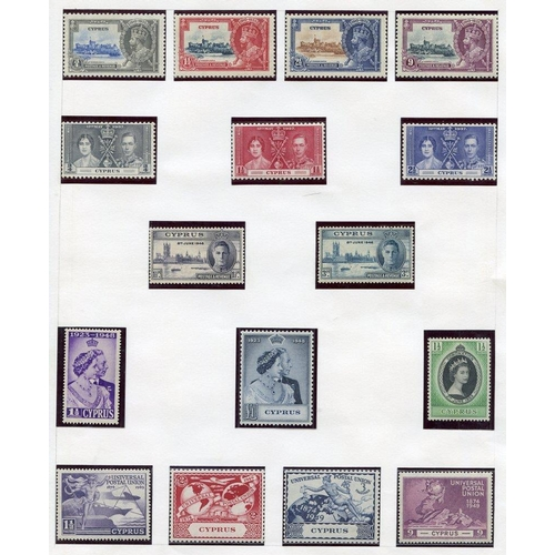 637 - Collection in album 1880 1d Pl.217 M, 1882-86 CA Die I, 4pi unused, 1882 30pa on 1p rose unused, 188...