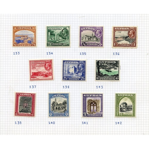 646 - 1924-49 M collection on leaves incl. 1934 Pictorial set (odd tone), 1935 Jubilee set, 1938 KGVI Defi...