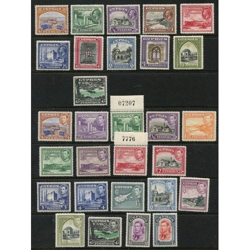 650 - 1934 Pictorial Defin set M, SG.133/43, 1938-51 KGVI Defin set (excl. 2½pi ultramarine) UM, SG.151/16...