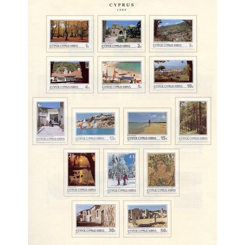 653 - 1985-2004 M collection on printed leaves, range of commems & defin sets. (266) Cat. £400...