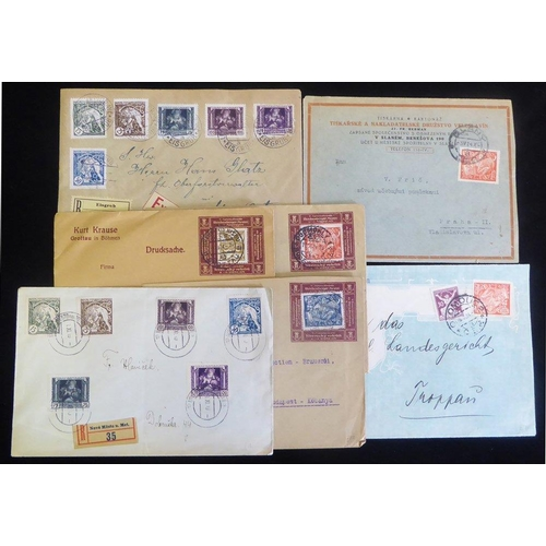 657 - 1920's covers with an interesting variety of frankings incl. registered, express, provisional dues, ...