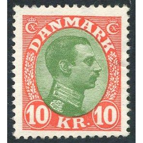 667 - 1928 10k green & vermilion, UM (minor wrinkle), SG.172. (1) Cat. £225...