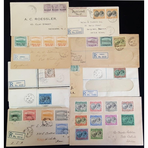 670 - 1884-1936 selection of covers incl. 1913 reg cover to Germany, franked KEVII 5s value, 1919 reg cove...