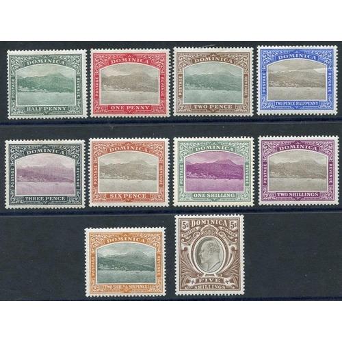 671 - 1903-07 CCC set, fine M (2½d creased), SG.27/36 (10) Cat. £225...