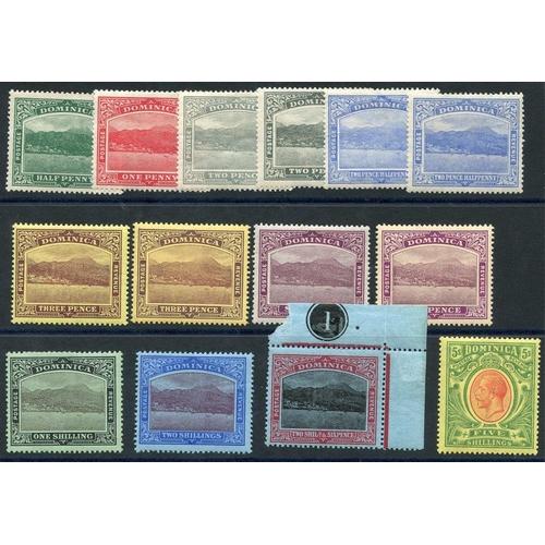 673 - 1908-20 MCCA set + extra 2d, 2½d, 3d & 6d shades, M (13), SG.47/54, Cat. £145...