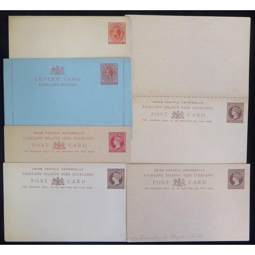 684 - QV-QEII unused assembly of postal stationery with QV 1d postcards (6), 1½d brown (9), complete reply...