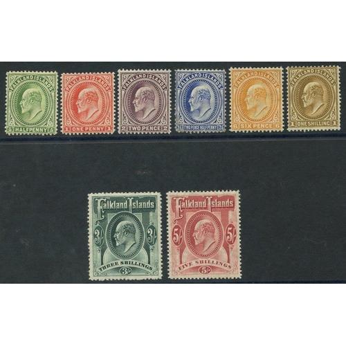 688 - 1904-12 MCCA set, M (2½d fault & 3s crease), SG.43/50. (8) Cat. £475...