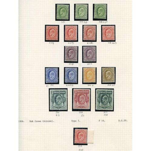 689 - 1906-12 MCCA set + extra shades comprises ½d (3), 1d (5), 2d (2), 2½d (2), 6d, 1s, 3s (2) & 5s. (17)...