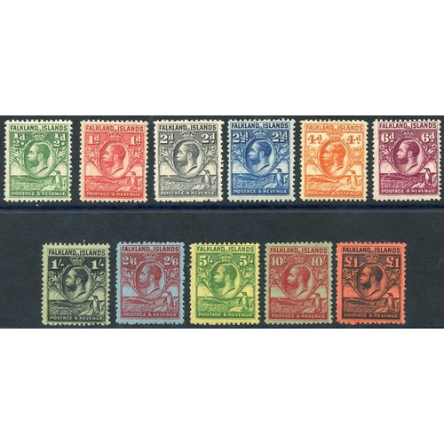 694 - 1929-37 Whale & Penguins set, fine M (£1 has slight gum crease), SG.116/126, Cat. £700...