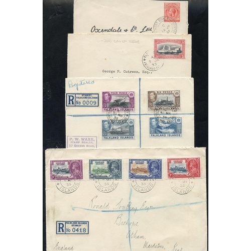 695 - 1933 - later range of covers & cards incl. 1d Centenary cover used 2nd day, KGV 1d postal stationery...