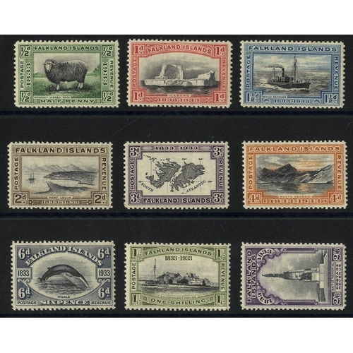 696 - 1933 Centenary set to 2/6d M SG.127/135 (9) Cat. £492...