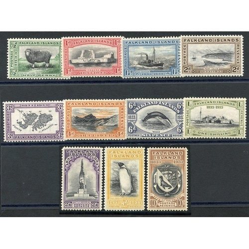 697 - 1933 Centenary set to 10s, fine M (2/6d - gum toned), SG.127/137. (11) Cat. £2290...