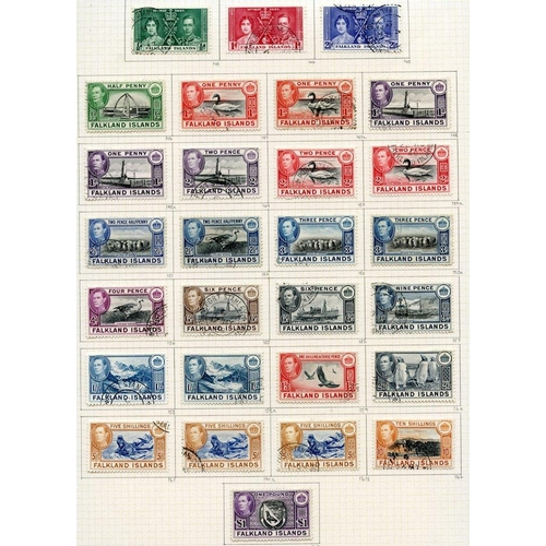 698 - 1937-52 collection U on philatelic leaves with 1938 set + extras, 1952 set & complete commems. Cat. ...
