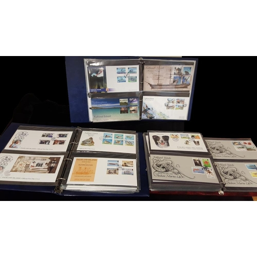 702 - 1964-2010 collection of FDC's in three cover albums incl. a good variety of thematics especially bir...