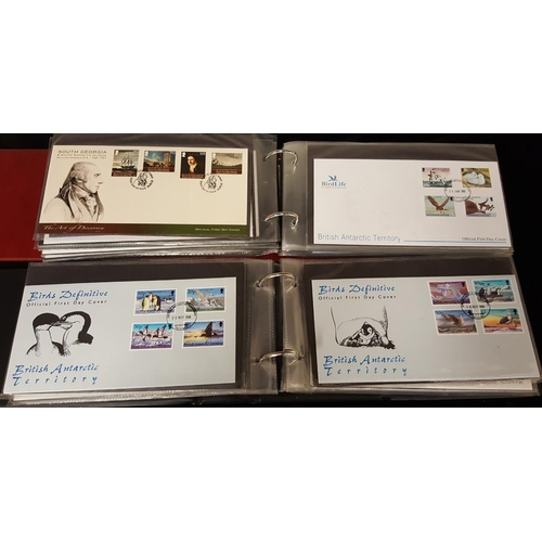 706 - FALKLAND DEPENDENCIES & B.A.T 1969-2009 FDC collection in two albums. (124)...