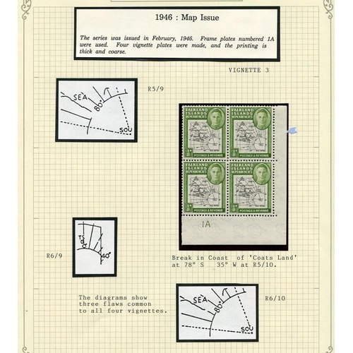 707 - 1944-46 M or UM collection in a spring back album incl. 1944 optd sets UM (4), 1946 Thick Maps set i...